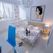 公寓简约卧室背景墙设计