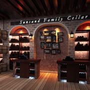 美式简约酒窖背景墙装饰