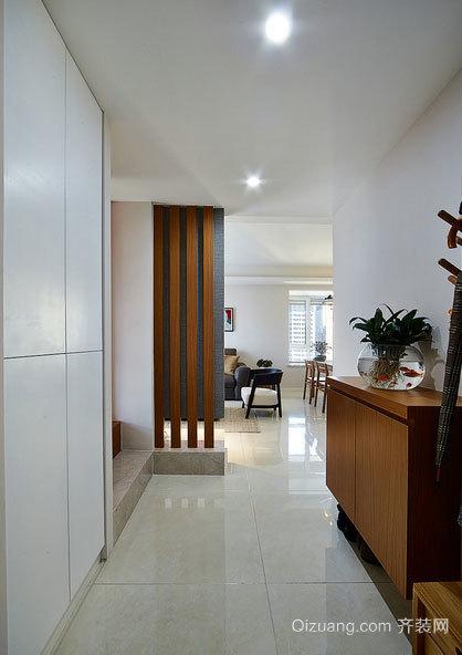 混搭风格plus原木调调86平米两室一厅装修效果图