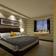 公寓简约卧室床头背景墙