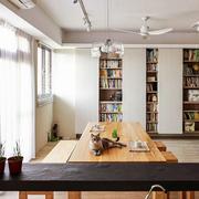 商品房简约风格客厅书柜装饰