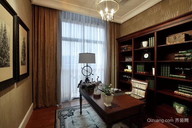 120平米美式风格浪漫三居小别墅装修效果图