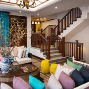 别墅简约风格客厅沙发装饰