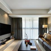 两室一厅简约客厅皮制沙发