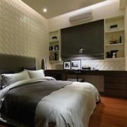 小户型卧室床头石膏板背景墙
