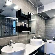 后现代风格卫生间洗手台装饰
