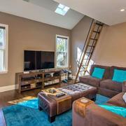 美式阁楼客厅沙发效果图