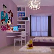 简约风格儿童房卡通置物架装饰