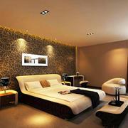 后现代风格宾馆床头背景墙装饰