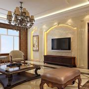 欧式复式楼客厅背景墙设计
