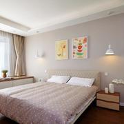 两室一厅简约卧室床头背景墙