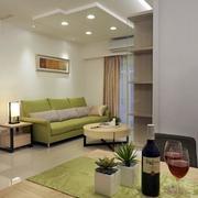 简约日式单身公寓客厅效果图