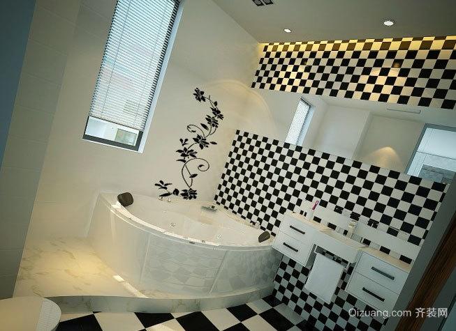 专为公寓设计的后现代风格炫酷卫生间装修效果图