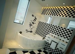 后现代风格简约卫生间浴缸装饰