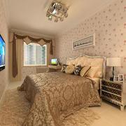 卧室田园风格印花墙饰装饰