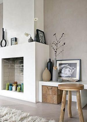 家中热量的来源:欧式风格壁炉效果图