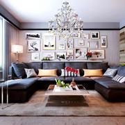 后现代风格客厅照片墙装修