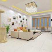 现代简约风格客厅照片墙装饰