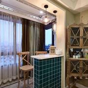 两室一厅简约客厅吧台装饰