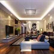 90平米房屋客厅简欧风格电视背景墙