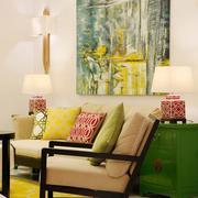 复式楼简约客厅灯饰设计