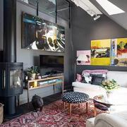 三室两厅混搭风格客厅背景墙