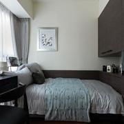 小户型简约风格卧室床头整体置物柜装饰