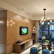 别墅简约风格客厅电视背景墙