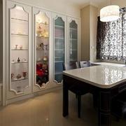 欧式简约风格餐厅大理石餐桌设计