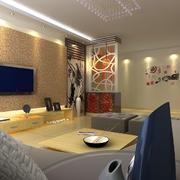 90平米房屋客厅石膏板背景墙