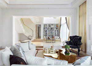 150平米怡人清新的北欧风格别墅样板间装修图