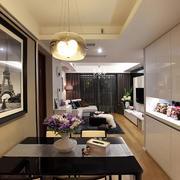 后现代风格客厅隐形门