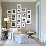 混搭风格客厅照片墙装饰