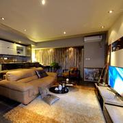 后现代风格别墅客厅效果图