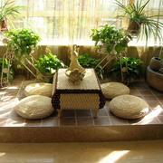日式阳台简约榻榻米装饰