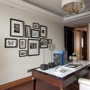 简约风格书房照片墙装修