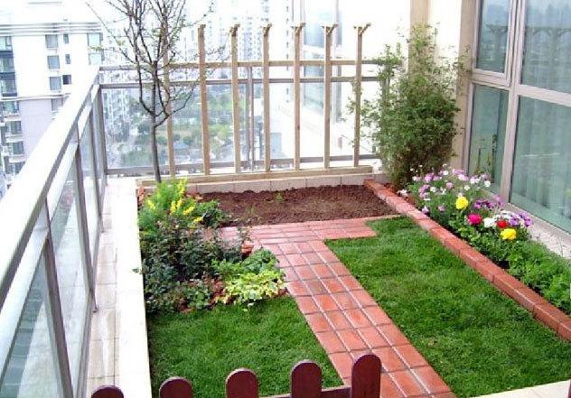 每天好心情:清新空气露台花园设计装修效果图