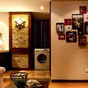 地中海风格客厅照片墙装修