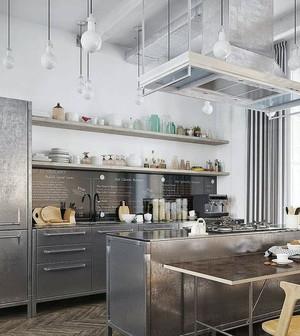 简约风格厨房吧台装饰