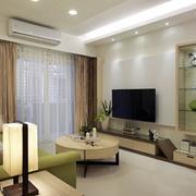 简约风格公寓客厅电视背景墙装饰