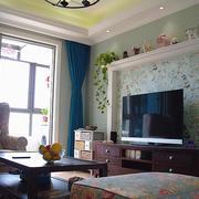 两室一厅美式电视背景墙