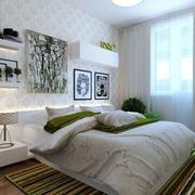 现代清新风格卧室窗户装饰