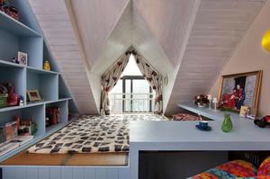 美式斜顶阁楼榻榻米装饰