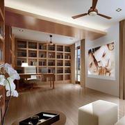 日式简约风格整体式书房装饰