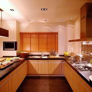 U型东南亚风格厨房装饰