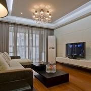 欧式简约风格客厅电视柜装饰