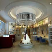 现代简约风格婚纱店圆形吊顶