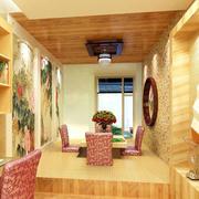 书房原木榻榻米装饰