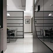后现代风格深色公寓玄关装饰