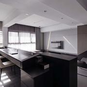 后现代风格公寓客厅飘窗装饰